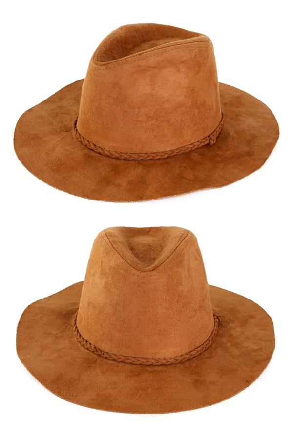 Cowboyhoed suede Indiana bruin 1