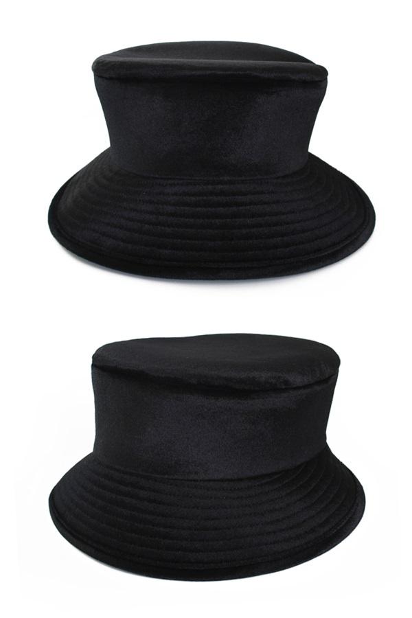 Dames bolhoed luxe zwart maat 58 1