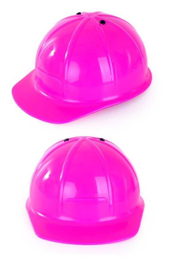 Verstelbare bouwhelm roze 1