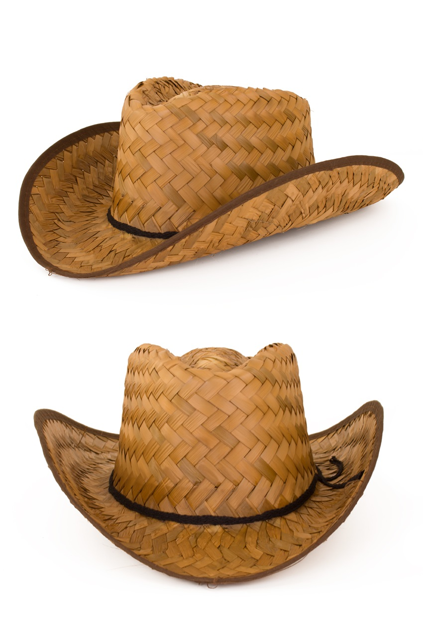 Stro cowboy volwassen one size 1
