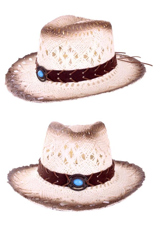 Cowboyhoed luxe met band en steen 1