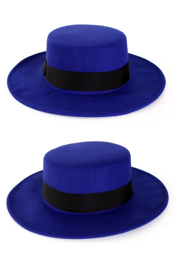 Spaanse hoed blauw met band 1