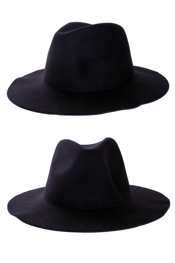 Cowboy flap hoed zwart 1