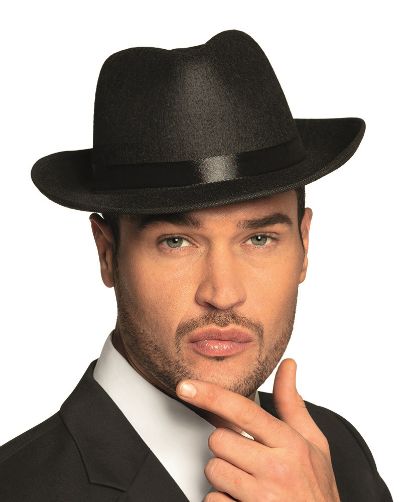 Maffia hoed zwart  1