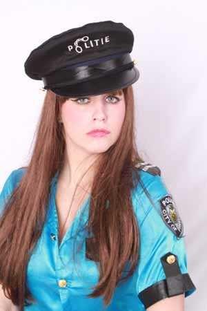 Politiepet met tekst politie unisex 1