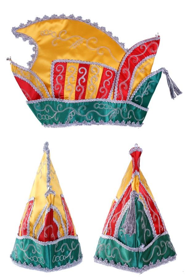 Prinsenmuts rood/geel/groen maat 63 1