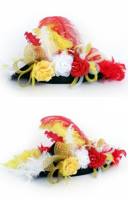 Hoed deluxe Oeteldonk rood/wit/geel
