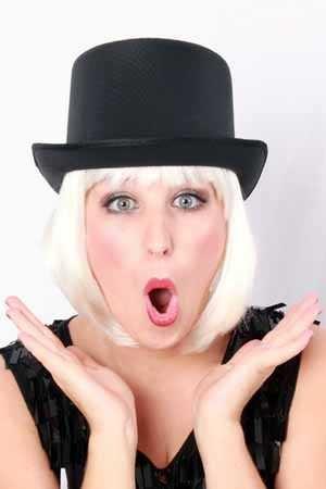 Hoge hoed satijn de luxe zwart 1