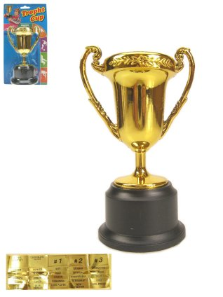 Plastic trofee 12.5 cm