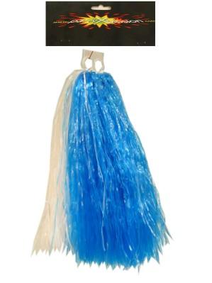 Cheerball ringgreep blauw/wit 1
