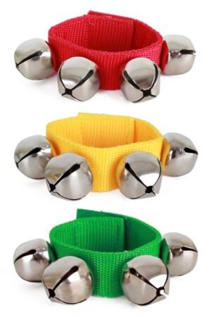 Belletjes band rood/geel/groen
