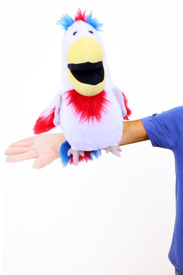 Buikspreekpop papagaai 1