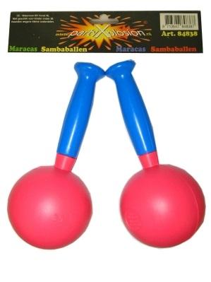 Paar sambaballen assortie kleuren  1