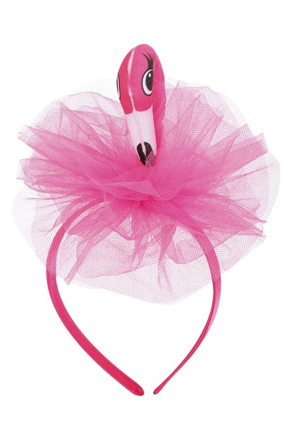 Diadeem  flamingo met tule 1