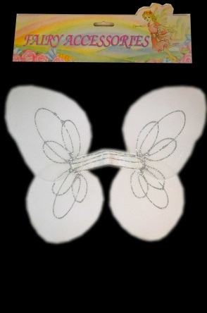 Engelen vleugels wit met glitters  1