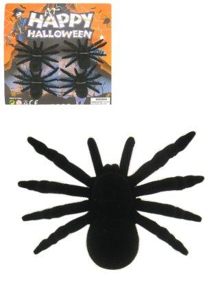 Spinnen op kaart per 4 zwart 1