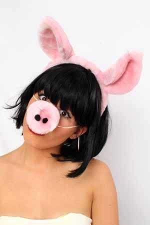 Diadeem varken met losse neus 1