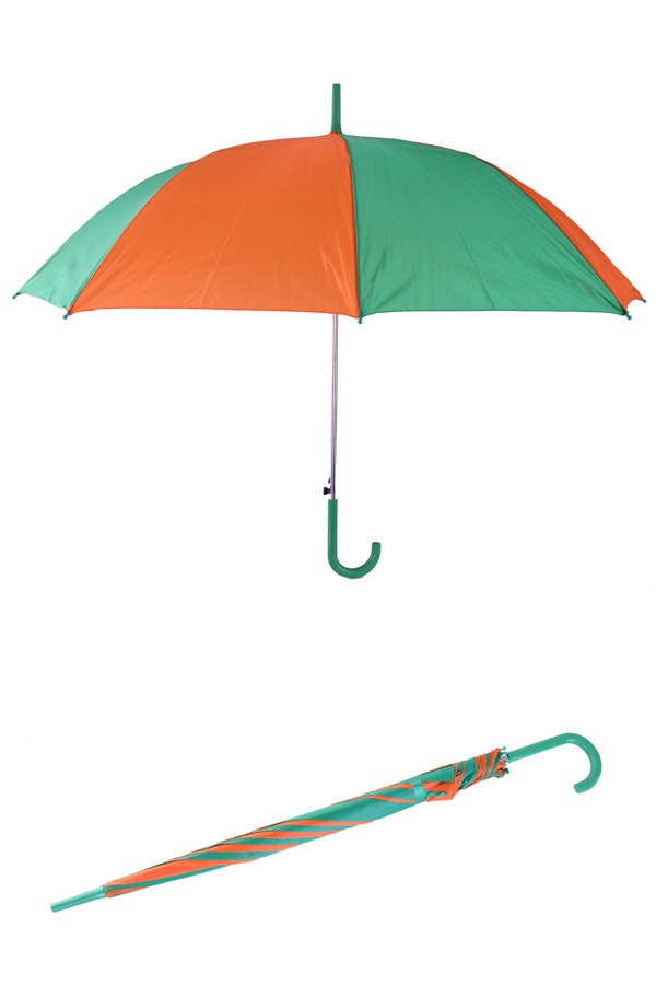 Paraplu oranje/groen 59 cm