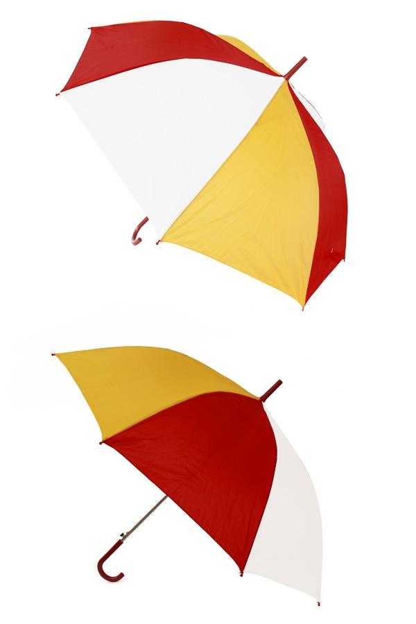 Paraplu rood/wit/geel 59 cm