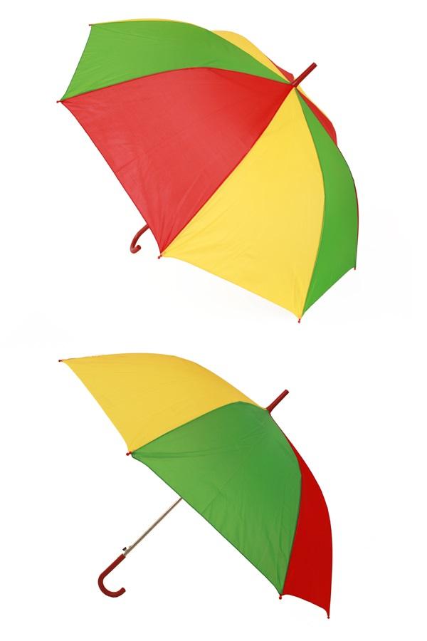 Paraplu rood/geel/groen 59 cm