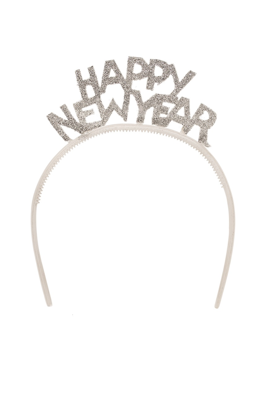 Diadeem glitter zilver Happy New year 1