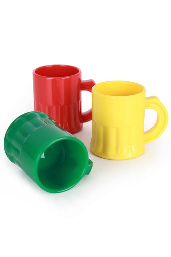 Shotglaasjes rood/geel/groen 2,5 cl
