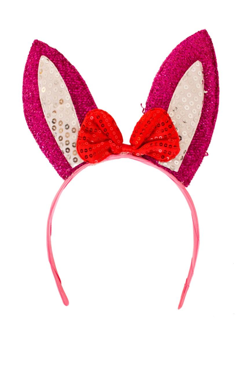 Diadeem konijn roze/wit 1