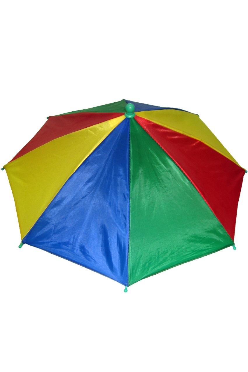 Hoofd paraplu rood geel groen blauw 1