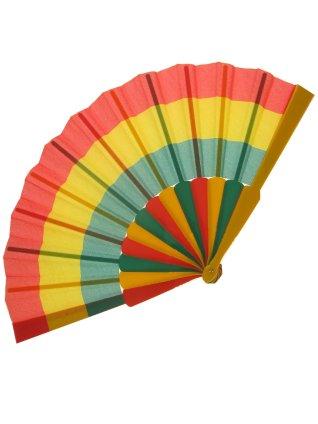 Waaier carnaval rood/geel/groen 1