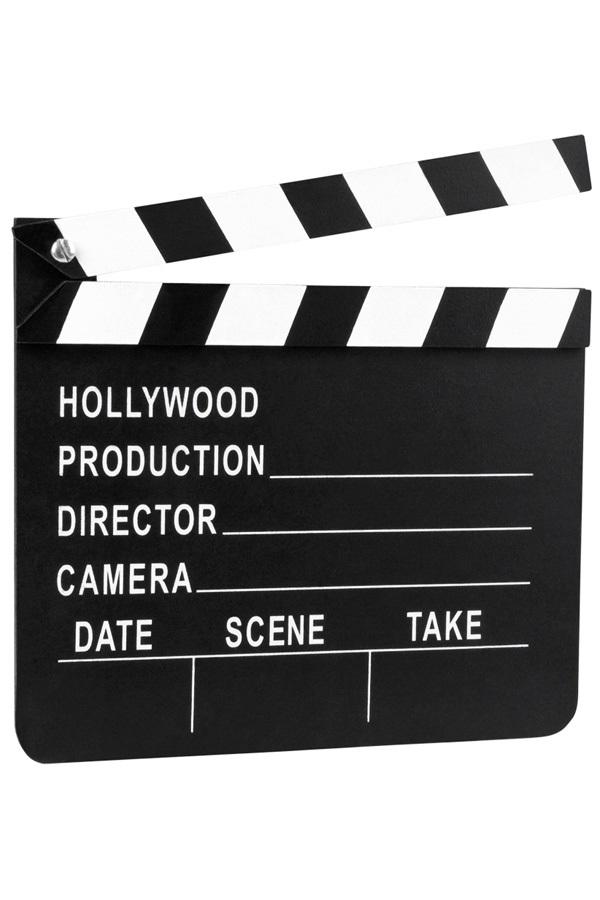 Filmklapper Hollywood 18×20 cm 1