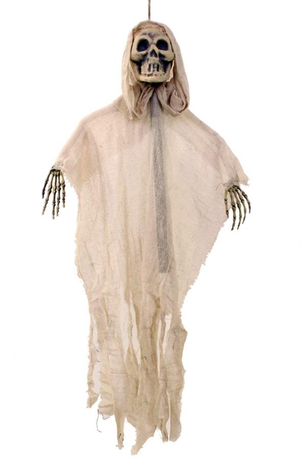 Hangende skelet beige met stok 1