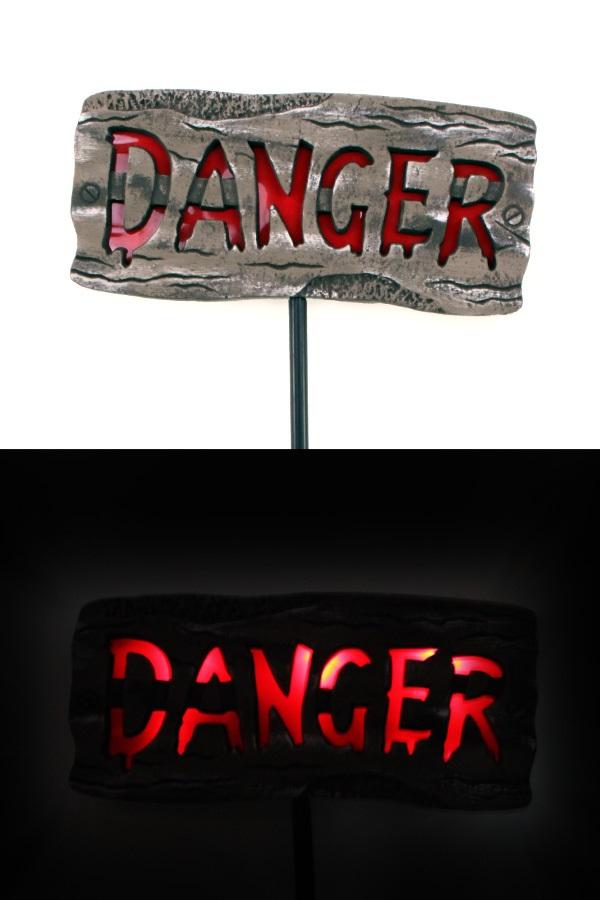 Bord DANGER met licht 1