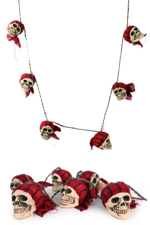 Touw met piraten schedels 1