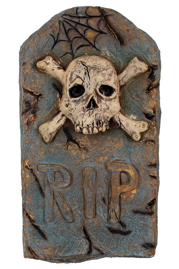 Grafsteen R.I.P. skelet 52×30 cm