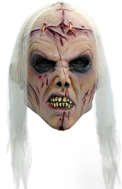 Masker zombie lobotomie wit haar 1