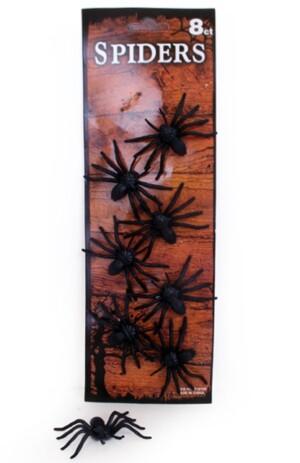 Spinnen zwart 8 stuks