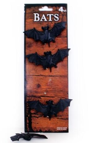 Vleermuis zwart 4 stuks