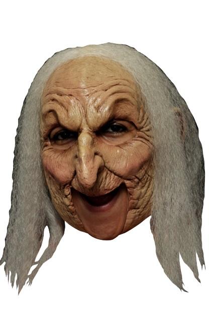 Masker oude heks wit haar  1