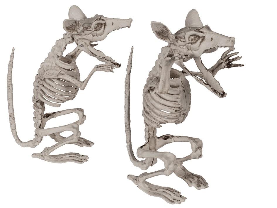 Halloween figuur, Ratten skelet 17 cm 1