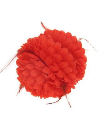 Haarklem rode bloem + besjes 1