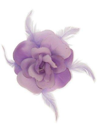 Bloem+glitters speld en elastiek lila 1