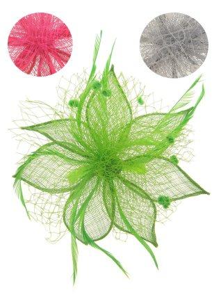 Haardeco bloem ster pink/groen/zilver 1