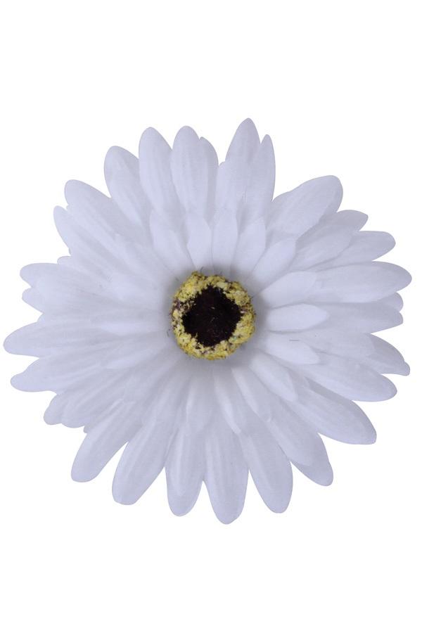 Bloem Gerbera wit met pin en haarclip 1