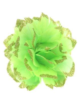 Bloem + glitter en ijzerdraad groen 1