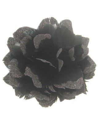 Bloem + glitter en ijzerdraad zwart 1