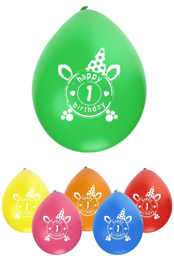 Leeftijdballon 1 jaar per 8  32cm/11inch 1