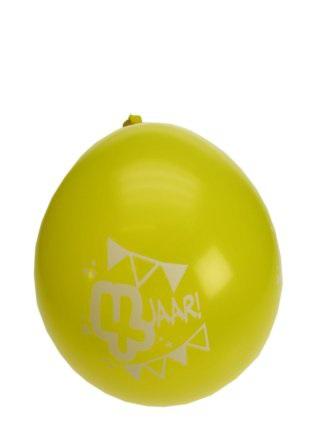 Leeftijdballon 4 jaar per 8 32 cm/11inch 1