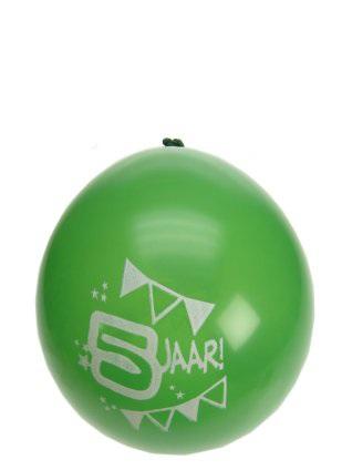 Leeftijdballon 5 jaar per 8 32cm/11inch 1