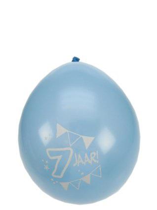 Leeftijdballon 7 jaar per 8 32 cm/11inch 1