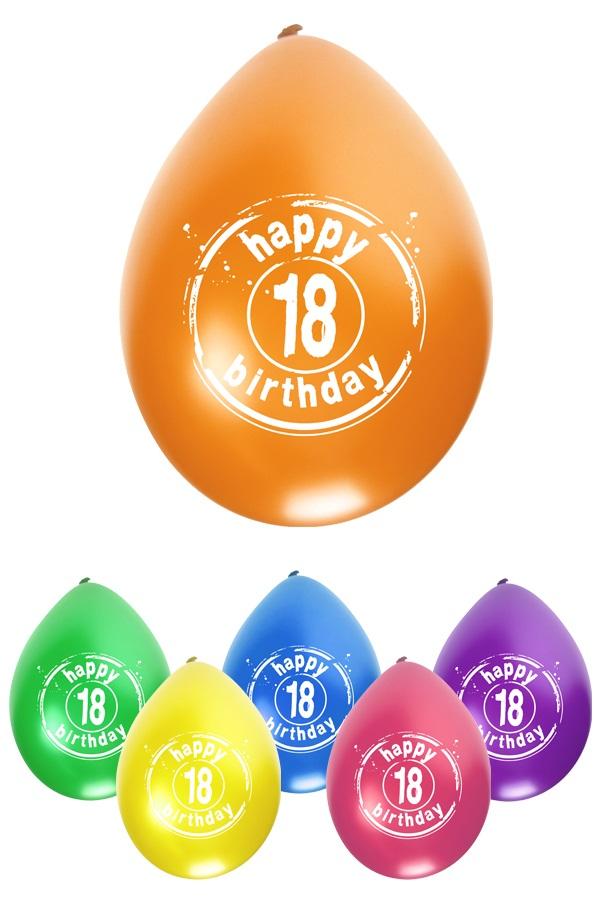 Leeftijdballon 18 jaar per 8 32cm/11inch 1
